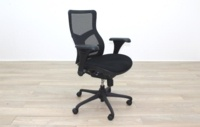 RS Pro Mesh Back Black Fabric Seat Operator Chair - Thumb 6