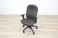 Verco Brown Fabric Operator Chair - Thumb 3