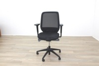 Orangebox Joy-12 Black Mesh / Fabric Office Task Chairs - Thumb 5