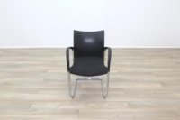 Herman Miller Black Fabric Seat Black Polymer Back Office Meeting Chairs - Thumb 5