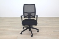 Task Black Mesh Black Fabric Operator Chair - Thumb 4