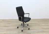 Black Leather Operator/Executive Chairs - Thumb 6