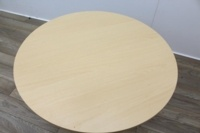 Maple Round Table With White Frame - Thumb 4