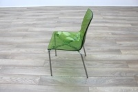 Frovi Green Transparent Plastic / Chrome Frame Canteen Chairs - Thumb 4