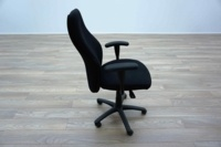 Black Fabric High Sculpted Back Multifunction Office Task Chairs - Thumb 4
