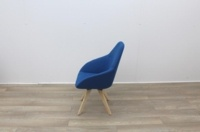 Blue Fabric Reception Chair - Thumb 4