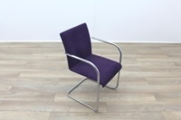 Brunner Purple Velour Meeting Chair - Thumb 5