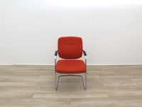 Orange Meeting Chairs With Chrome Frame - Thumb 3