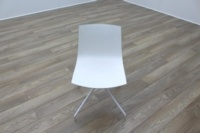 Arper Catifa 46 White Office Canteen / Meeting Chair - Thumb 3