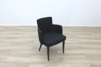 Black Fabric w/ Green Fleck Office Reception Tub Style Chairs - Thumb 6
