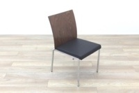 Brunner Walnut Back Black Leather Seat - Thumb 5