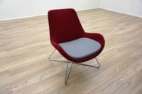 OrangeBox AVI Red / Grey Office Reception Lounge Chairs - Thumb 2