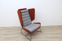 Big Red and Grey Reception Chairs With Metal Frame - Thumb 2