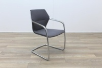 Brunner Grey Fabric Cantilever Meeting Chair - Thumb 5