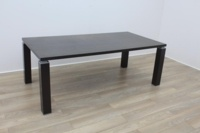 Wenge Rectangular Meeting Table 2000mm - Thumb 2