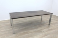Zebrano Rectangular Office Meeting Table - Thumb 2