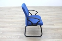 Blue Fabric Cantilever Office Meeting Chair - Thumb 6