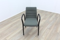 Brunner Olive Green Mahogany Frame Meeting Chair - Thumb 2