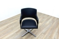 Brunner Black Leather Self Centering Executive Meeting Chair - Thumb 2
