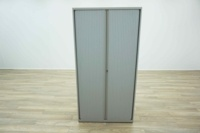 Bisley Grey 1950mm Tambour Office Storage Cupboards - Thumb 2
