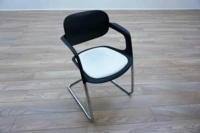 Allermuir A781 Black / White Office Stacking Meeting Chairs - Thumb 2