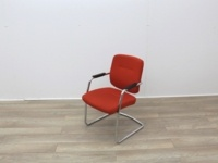 Orange Meeting Chairs With Chrome Frame - Thumb 4