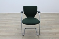 Orangebox X10 Green Fabric Cantilever Stacking Office Meeting Chairs - Thumb 4