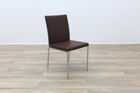 Brunner Brown Leather Chrome Base Meeting Chair - Thumb 5