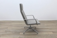 Brunner Light Grey Leather Executive Chair - Thumb 6
