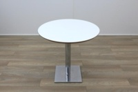 White Round Table 800mm - Thumb 3