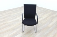 Black Fabric High Back Cantilever Office Meeting Chairs - Thumb 3