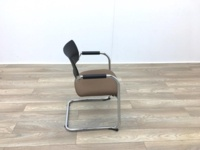 Black Back Brown Seat Meeting Chairs - Thumb 6