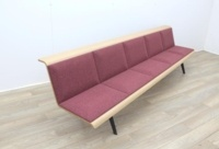 ARPER Five Person Bench Whit Oak Finish - Thumb 3
