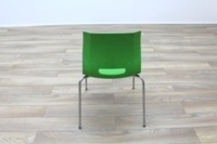 Allermuir Casper Green Shell Chrome Frame Office Meeting / Canteen Chairs - Thumb 8