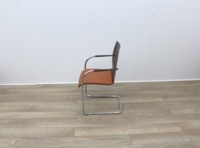 Walnut With Fabric Seat Meeting Chairs - Thumb 4