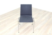 Brunner Dark Grey Fabric Seat Meeting Chair - Thumb 2