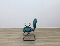 Green Fabric Meeting Chairs - Thumb 4