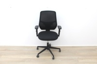 Black Operator Chair With Mesh Back And Lumbar Support - Thumb 2