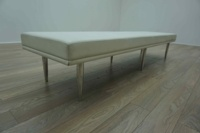 Davison Highely Fifth Avenue White Leather Office Reception Bench Seating - Thumb 3