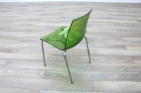 Frovi Green Transparent Plastic / Chrome Frame Canteen Chairs - Thumb 5