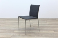 Brunner Oak Back Grey Fabric Back Meeting Chair - Thumb 3