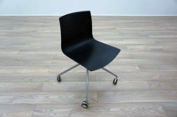 Aper Catifa 46 Black Plastic Office Meeting Chairs - Thumb 2
