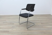 Brunner Black Mesh Back Grey Fabric Seat Meeting Chair - Thumb 3