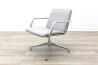 Brunner Light Grey Leather Meeting Chair - Thumb 3