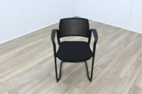 Torasen Polymer Back Black Fabric Seat - Thumb 2