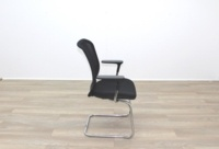 Orangebox Joy Black Fabric Seat / Black Mesh Back Cantilever Office Meeting Chairs - Thumb 6