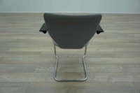 OrangeBox X10 Grey Fabric / Leather Cantilever Office Meeting Chairs - Thumb 6