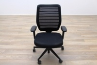Senator Fuse Black Mesh Multifunction Office Task Chair - Thumb 2