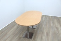 Beech Racetrack Office Meeting Table - Thumb 3