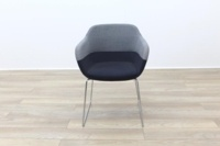 Brunner Grey and Blue Fabric Reception Tub Chair - Thumb 4